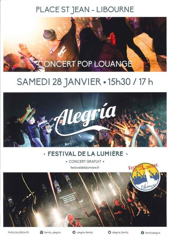 Festival de la lumière 2017 - concert Alegria