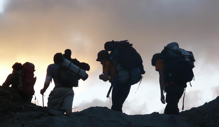 marche pelerinage montagne
